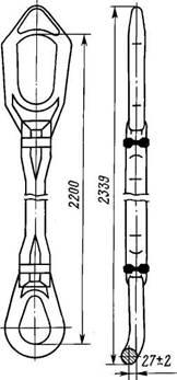 Параметры бурильных штропов